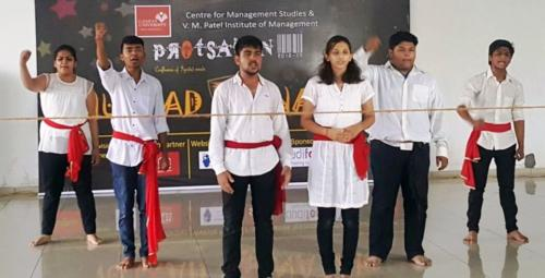 Won 2nd Prize  at Ganpat Uni for Nukkad Natak (skit)
